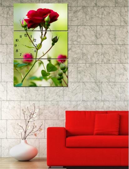 Bộ tranh hoa hồng ghép kiểu đứng treo phòng khách đẹp-01