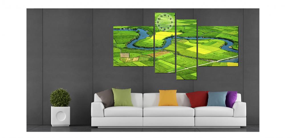 Hình ảnh Tranh phong cảnh đồng quê xanh mát
