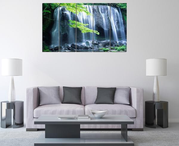 Bạn có thể đặt bộ tranh này với kích cỡ rộng 90cm, 1m5 hay 2m5 tùy vào diện tích phòng khách nhà bạn
