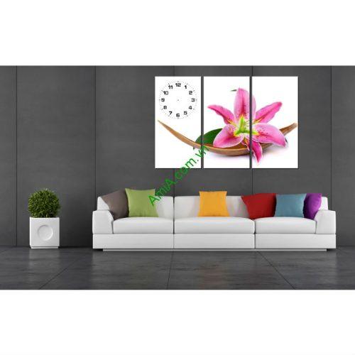 Tranh Hoa Ly ghép nghệ thuật treo phòng khách