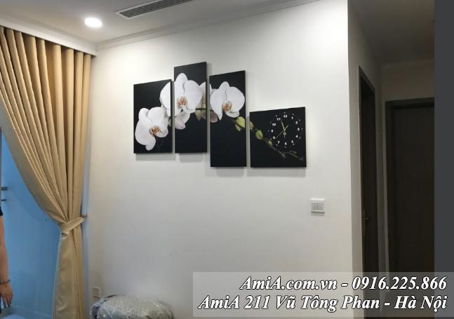 Tranh hoa phong lan trang treo phong khach AmiA 199