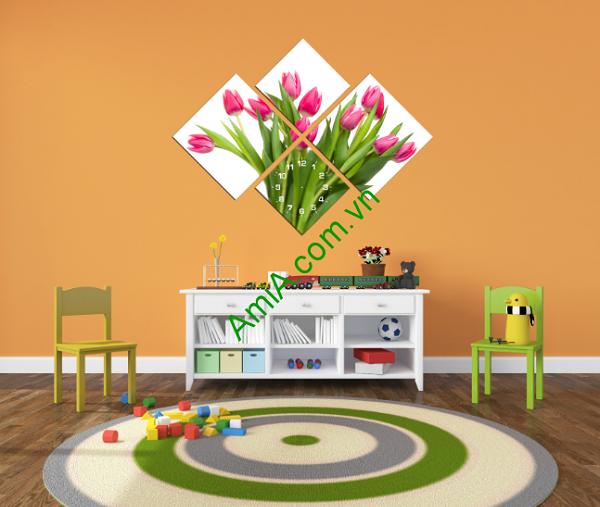 tranh-hoa-tulip-treo-trang-tri-phong-cua-be-tre-em