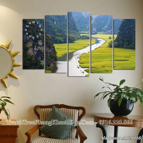 Tranh AmiA 168 treo phòng khách đẹp cảnh thiên nhiên