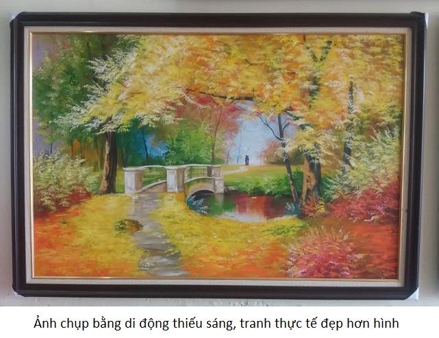 Tranh sơn dầu phong cảnh mùa thua lãng mạn, AmiA 106