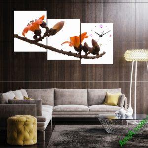 Hãy đặt Tranh ghép bộ phòng khách Hoa Gạo để cảm nhận sâu lắng sắc hoa gắn liền những kỷ niệm