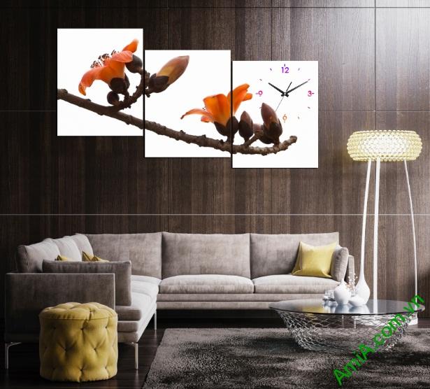 Nghệ thuật trang trí từ tranh đồng hồ treo phòng khách-01