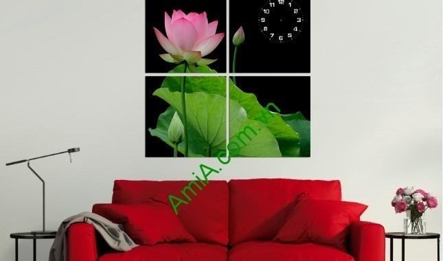 Ý nghĩa hoa Sen trong tranh trang trí phòng khách hiện đại