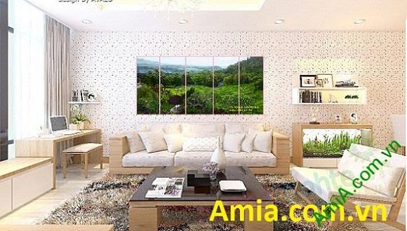 Sở hữu ngay bộ Tranh phong cảnh phòng khách để như được ở khu nghỉ dưỡng mỗi ngày
