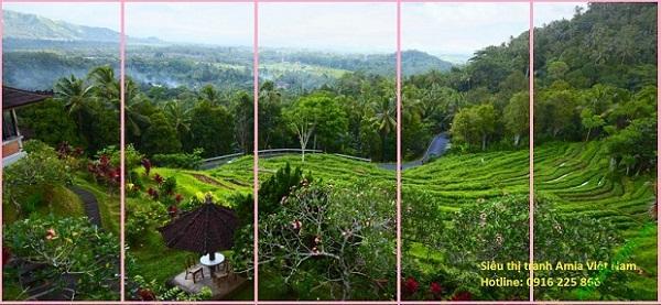 Thiên nhiên Việt Nam được thể hiện trong bộ Tranh phong cảnh phòng khách
