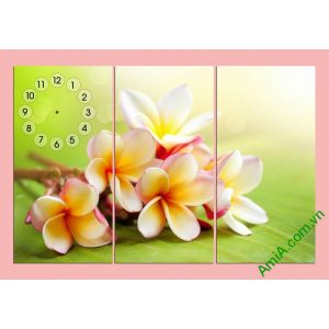 Tranh đồng hồ treo tường phòng khách hoa Đại Amia 292-00