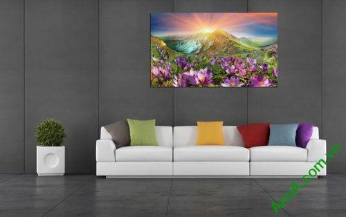 Tranh phong cảnh phòng khách đồi hoa nắng Amia 343-03