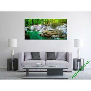 Tranh phong cảnh phòng khách thác nước Amia 324-00