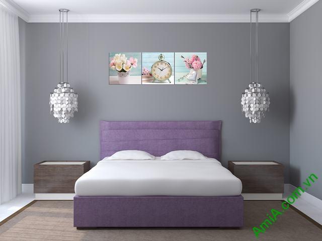 Đồng hồ tranh treo phòng khách, phòng ngủ Amia 280-01
