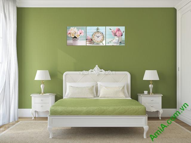 Đồng hồ tranh treo phòng khách, phòng ngủ Amia 280-02