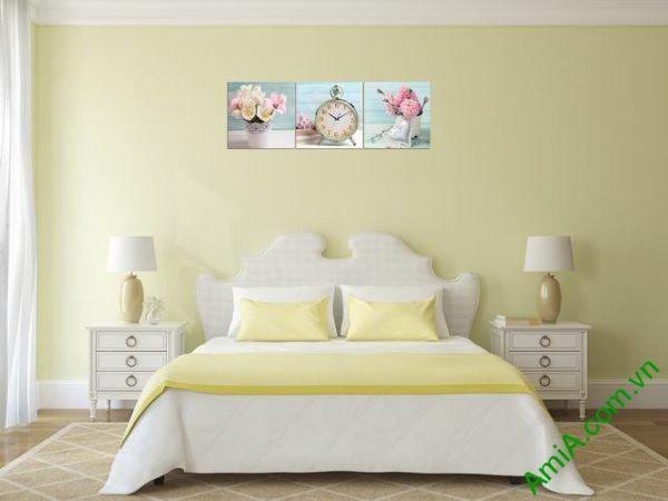 Đồng hồ tranh treo phòng khách, phòng ngủ Amia 280-03