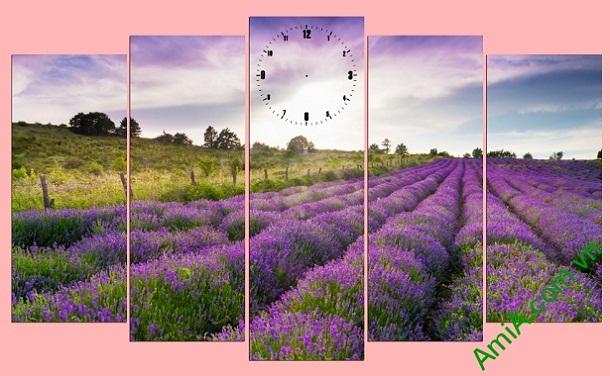 Tranh trang trí phong cảnh Đồng Hoa Oải Hương