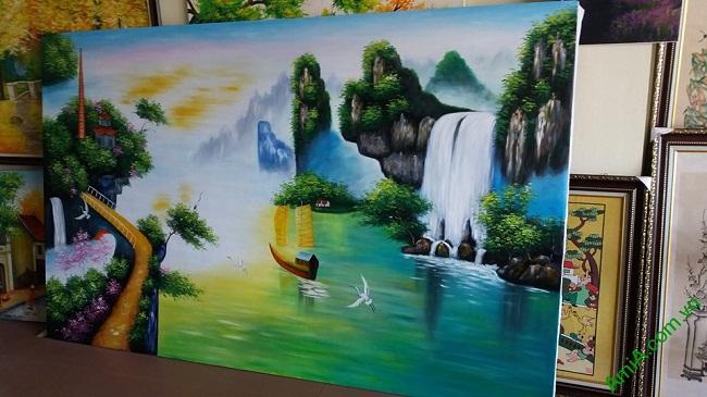 Tranh sơn dầu phòng khách khổ lớn 0 Thuận buồm xuôi gió Amia TSD 01