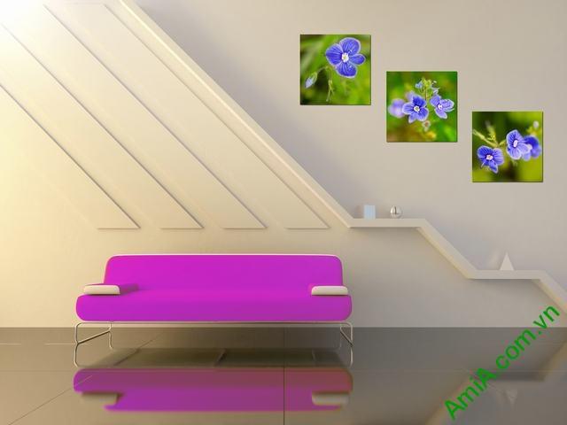 Nghệ thuật trang trí từ tranh đồng hồ treo phòng khách-06