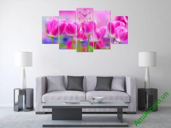 Tranh treo tường phòng khách Hoa Tulip Ạmia 286 -01