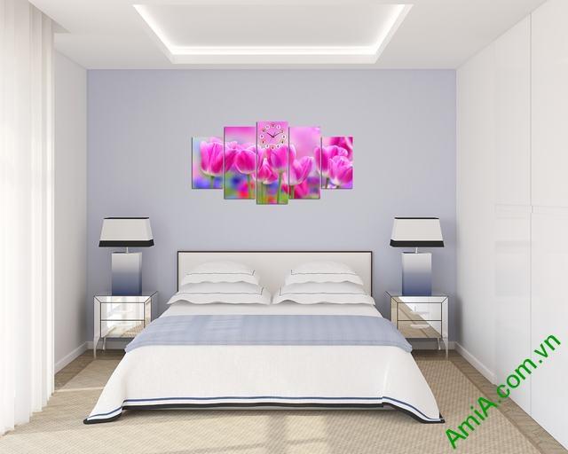 Tranh treo tường phòng khách Hoa Tulip Ạmia 286 -04