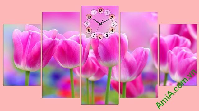 Tranh treo tường phòng khách Hoa Tulip Ạmia 286