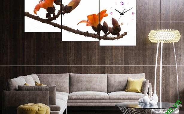 Nghệ thuật trang trí từ tranh đồng hồ treo phòng khách