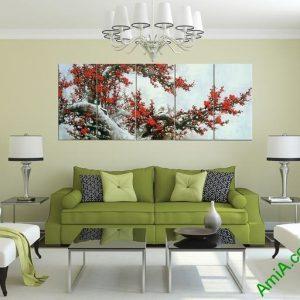 Tranh cành đào Tết treo tường phòng khách Amia 370-03