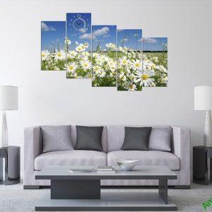 Tranh phong cảnh phòng khách hiện đại đồng cúc họa mi amia 381-01