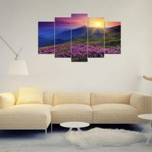 Tranh phong cảnh trang trí phòng khách đồi hoa nắng Amia 376-02