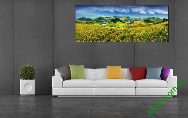 Tranh phong cảnh treo phòng khách đẹp Amia 359-01