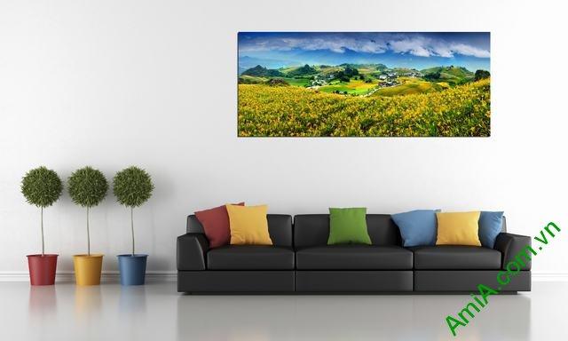 Tranh phong cảnh treo phòng khách đẹp Amia 359-02