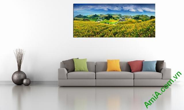 Tranh phong cảnh treo phòng khách đẹp Amia 359-03