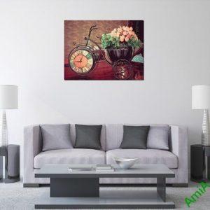 Tranh trang trí phòng khách bánh xe thời gian 1 tấm-03