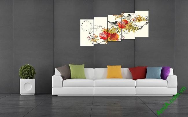 Tranh trang trí phòng khách ngày Tết Amia 374-02