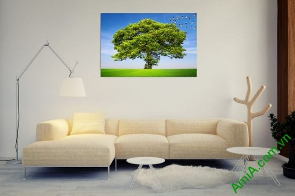Tranh treo phòng khách thiên nhiên một tấm Amia 357-01