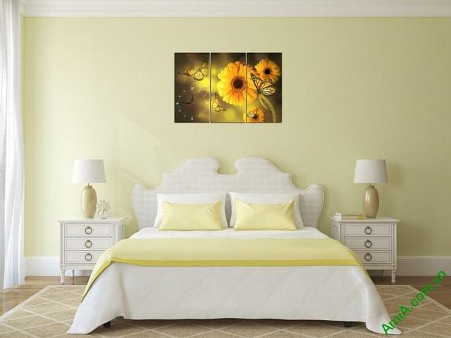 Đồng hồ tranh treo phòng khách, phòng ngủ hiện đại Amia 384-04