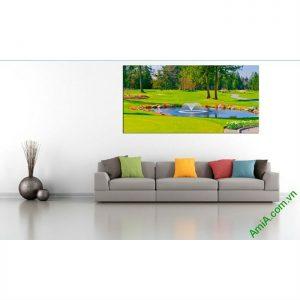 Tranh phong cảnh khổ lớn trang trí phòng khách một tấm Amia 395-00