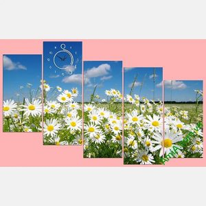 Tranh phong canh dong hoa cuc hoa mi thien nhien