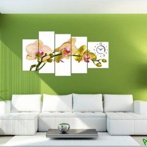 Tranh trang trí phòng khách hiện đại Lan Hồ Điệp Amia 394-01