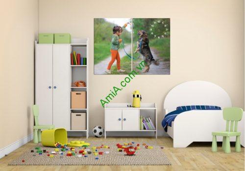 Đồng hồ tranh phòng khách, phòng trẻ em Amia 175-01