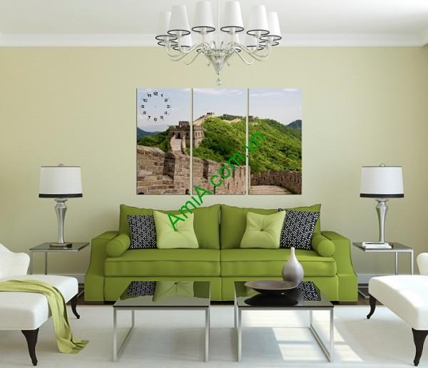 Tranh ghép phong cảnh phòng khách Vạn Lý Trường Thành amia 144-01