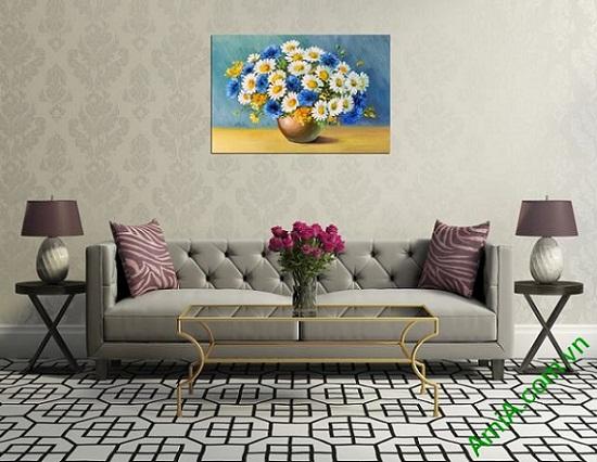 Tranh trang trí phòng khách bình hoa một tấm amia 317-03