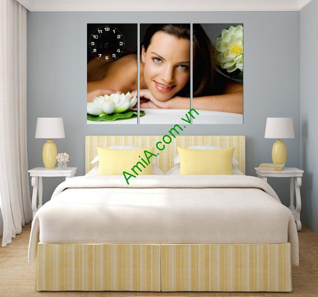 Tranh trang trí phòng khách, phòng ngủ hình cô gái amia 173-01