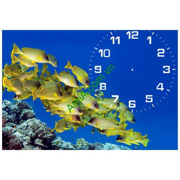 Đồng hồ tranh để bàn Đàn Cá Vàng Amia TDB 103-00