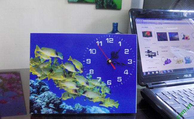 Đồng hồ tranh để bàn Đàn Cá Vàng Amia TDB 103-01