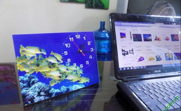 Đồng hồ tranh để bàn Đàn Cá Vàng Amia TDB 103-02