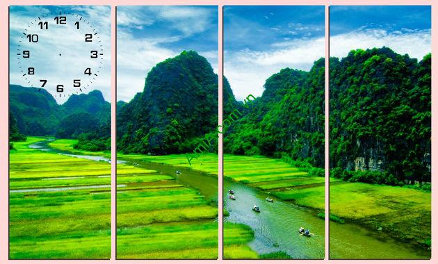 Tranh phong cảnh quê hương tuyệt đẹp Khu danh thắng tràng an