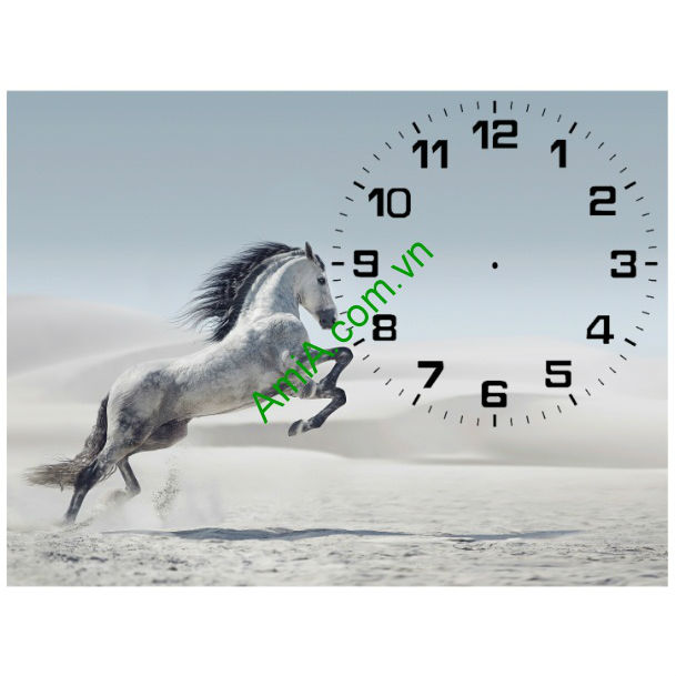 Tranh đồng hồ để bàn Ngựa phi nước đại Amia TDB 102-00