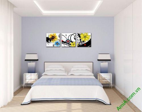 Tranh hoa nghệ thuật treo phòng khách, phòng ngủ Amia 413-02