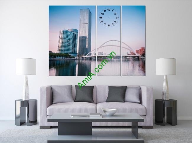 Tranh phong cảnh trang trí phòng khách Tòa Nhà Amia 239-01